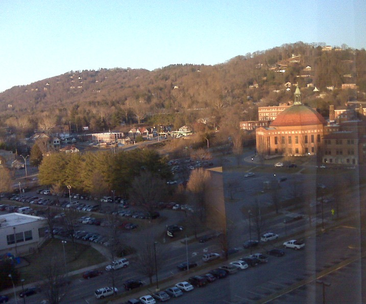 Asheville hotel view - cropped