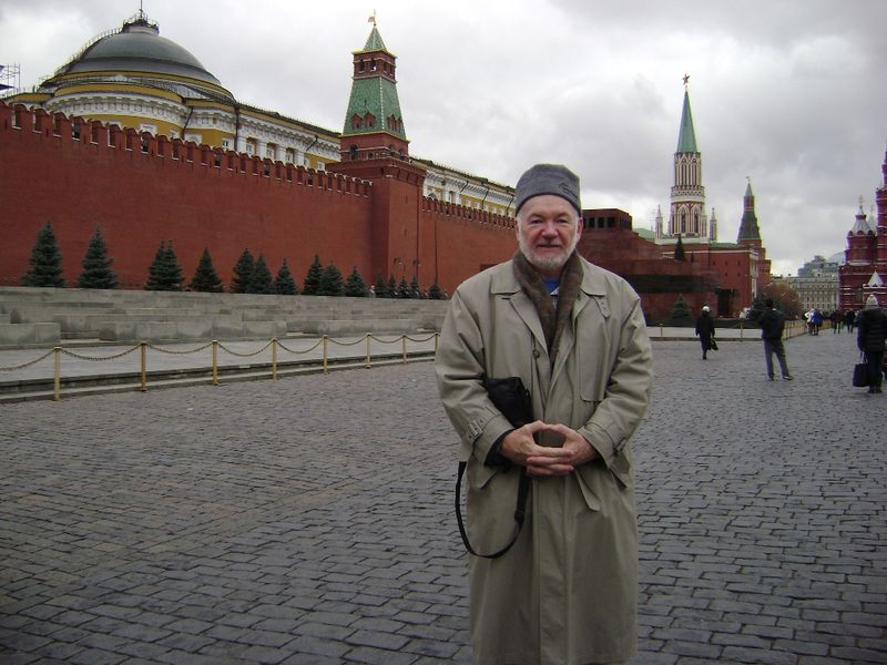 James in Red Square