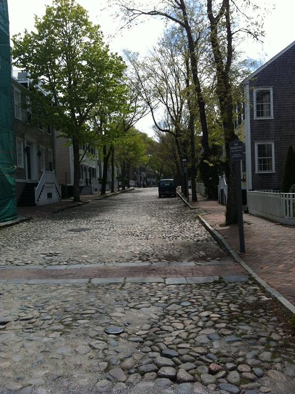 Walking up Main Street