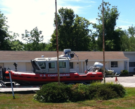 Big Coast Guard boat in Wolfeboro