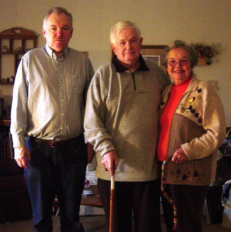 Jay Mom and Dad - Christmas 2003